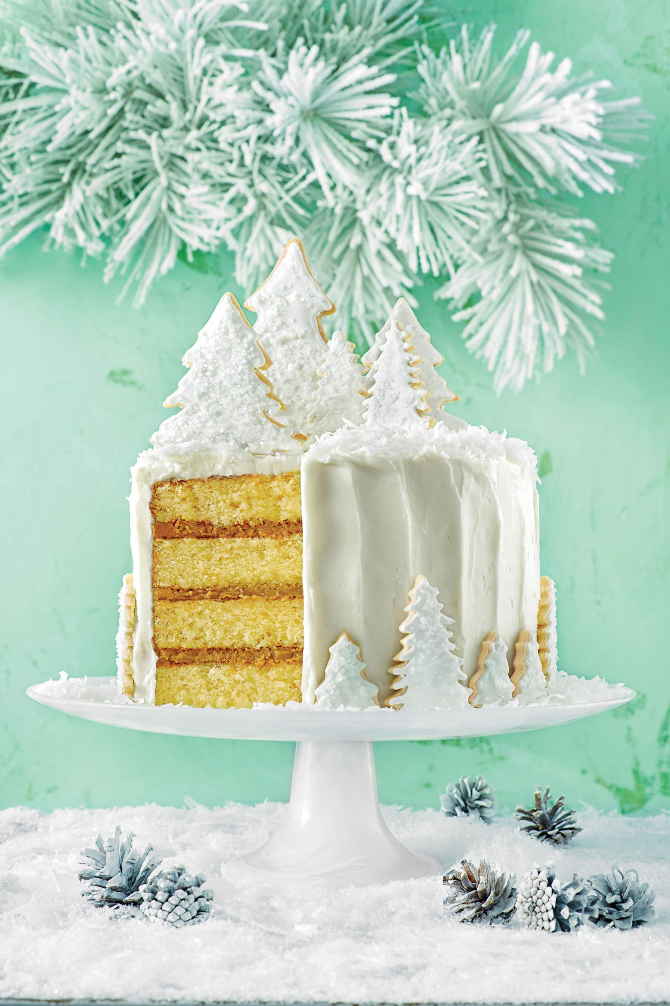 Coconut Cake with Rum Filling and Coconut Ermine Frosting image