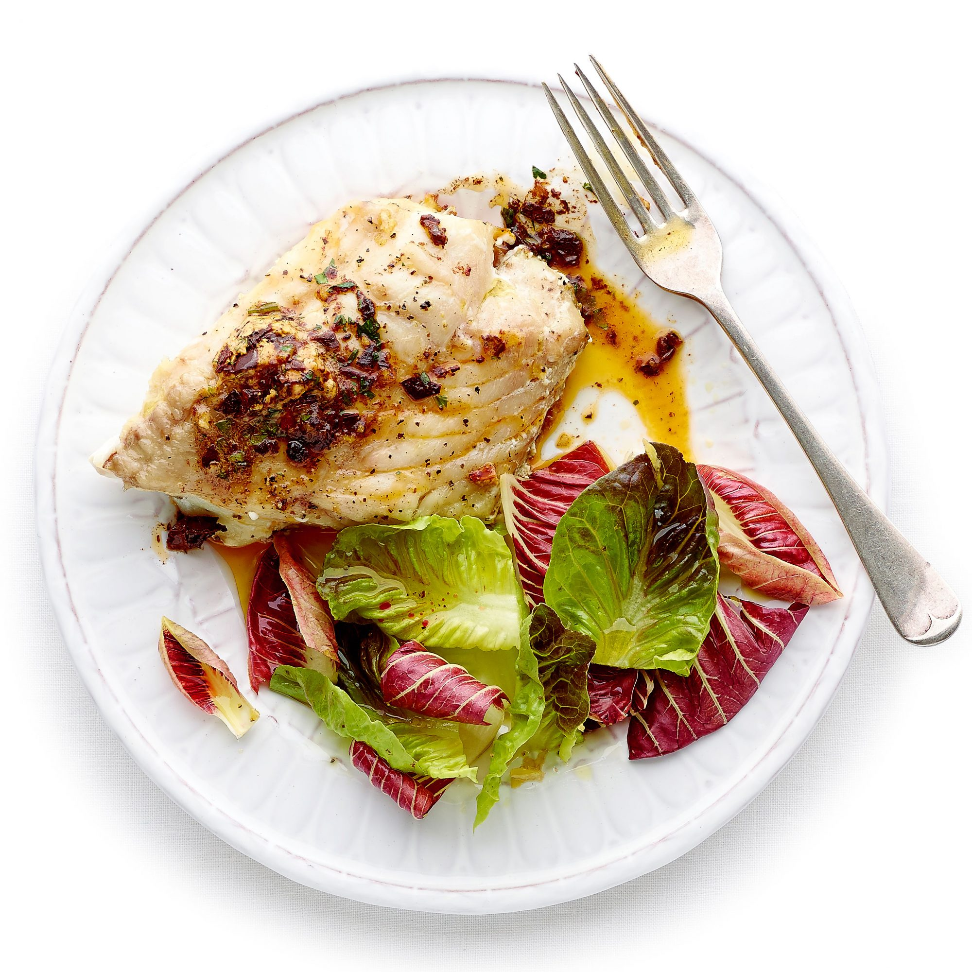 Cod with Roasted Chile Butter
