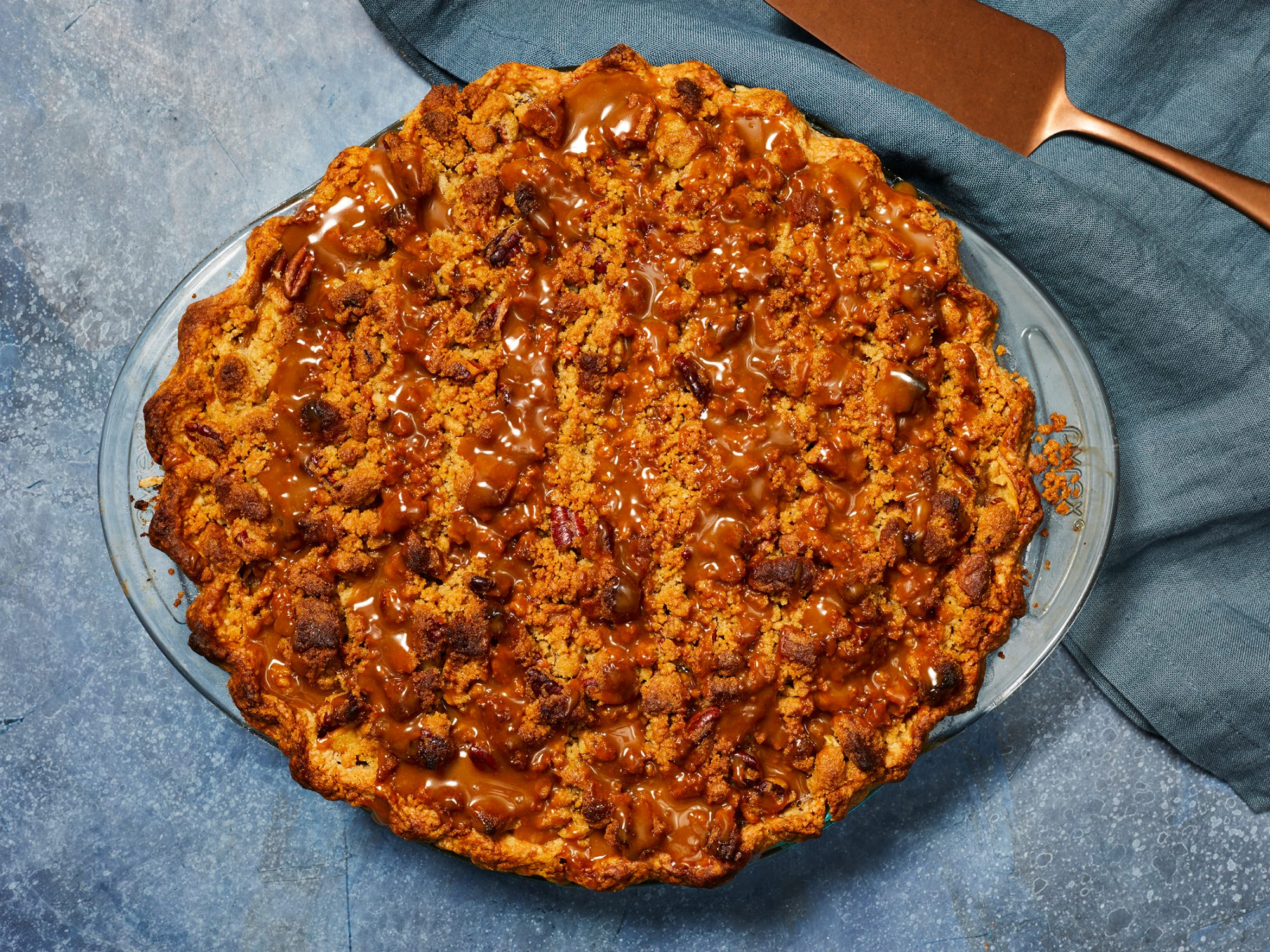 Apple-Pear Pie with Cookie Butter Caramel image