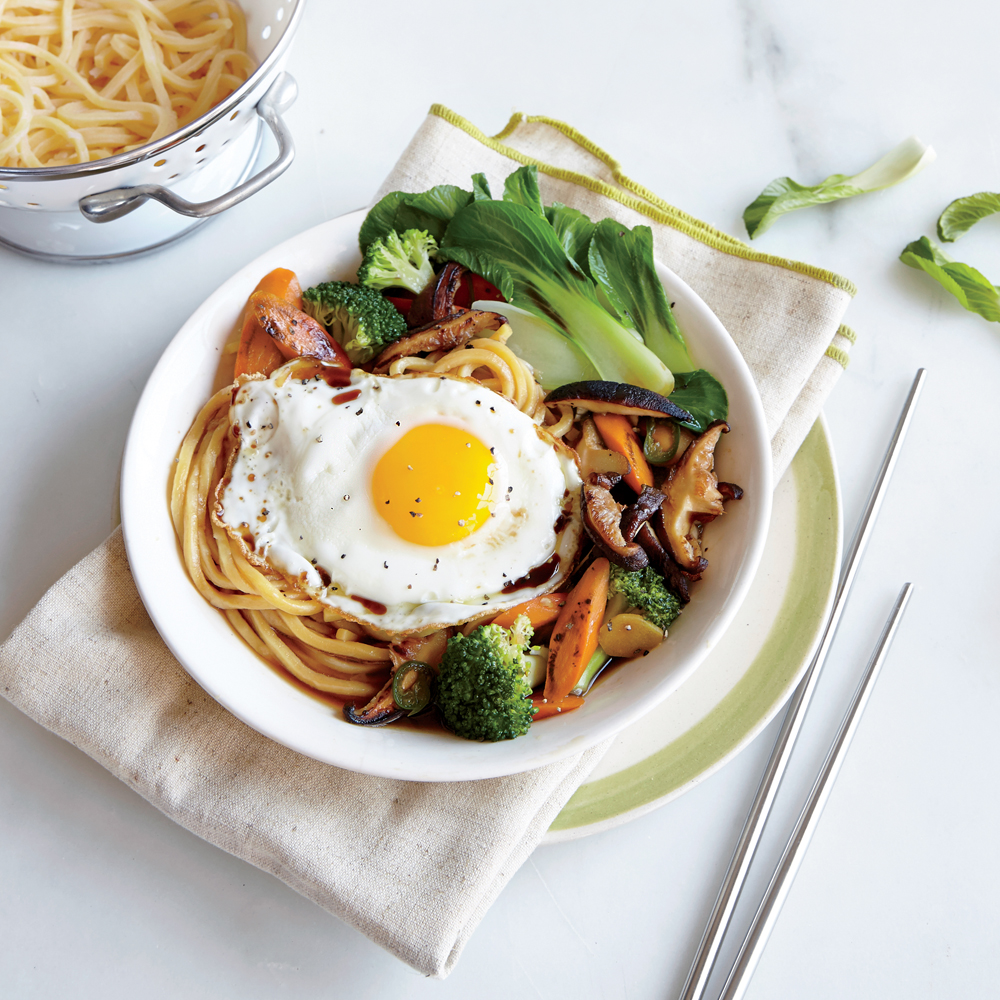 Egg Noodle Stir-Fry with Broccoli