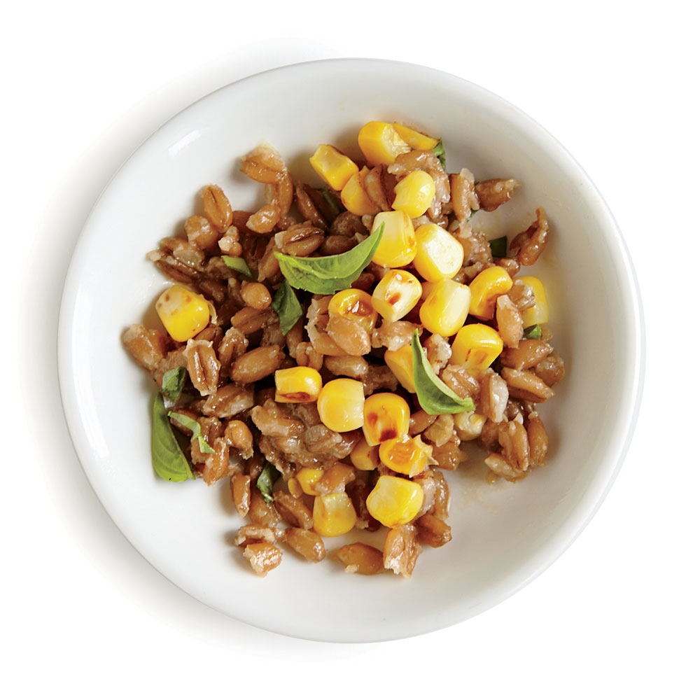 Farro Salad with Basil and Corn
