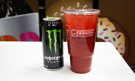 This New Dunkin Donuts Drink Is Just A Monster Energy Drink And A