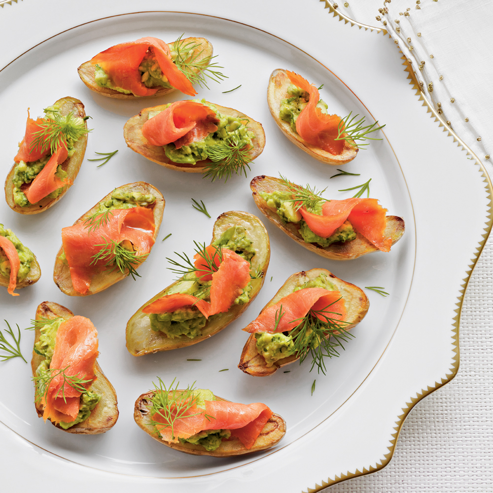 Fingerling Potatoes with Avocado and Smoked Salmon