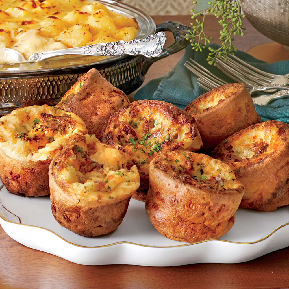 Fontina-Chive Yorkshire Puddings