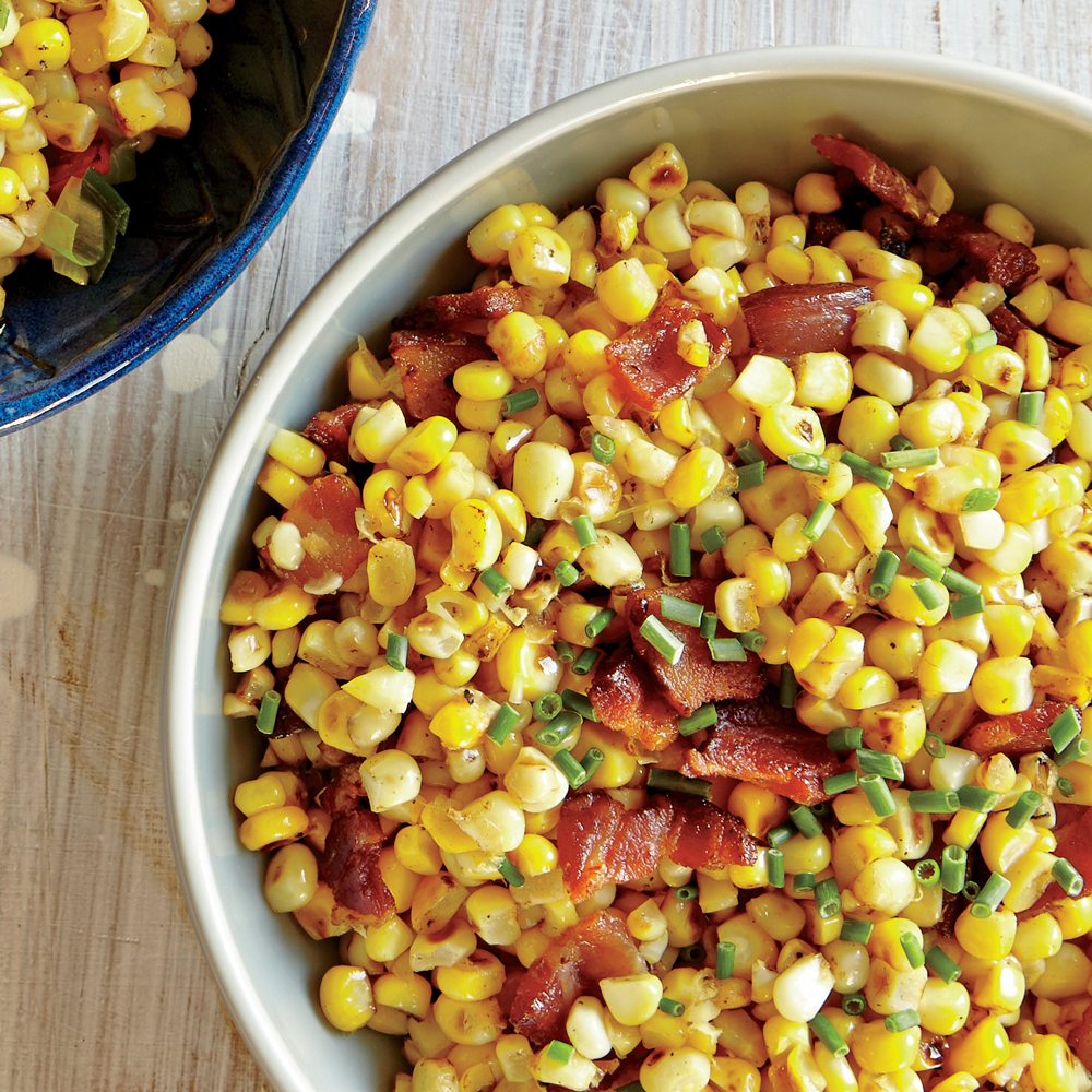 Fresh Corn Sauté with Bacon and Chives