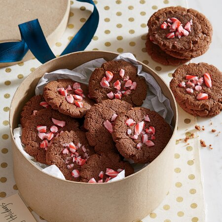 Fudgy Chocolate Peppermint Cookies