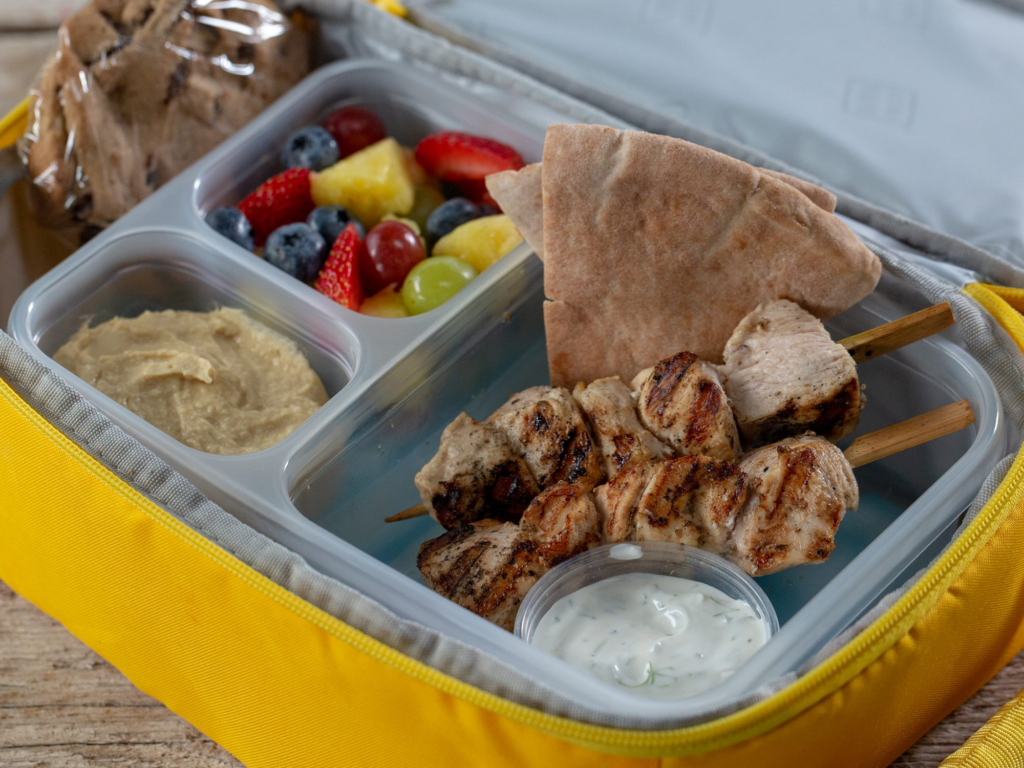 Greek Chicken Kabobs With Simple Herb Yogurt Dip image