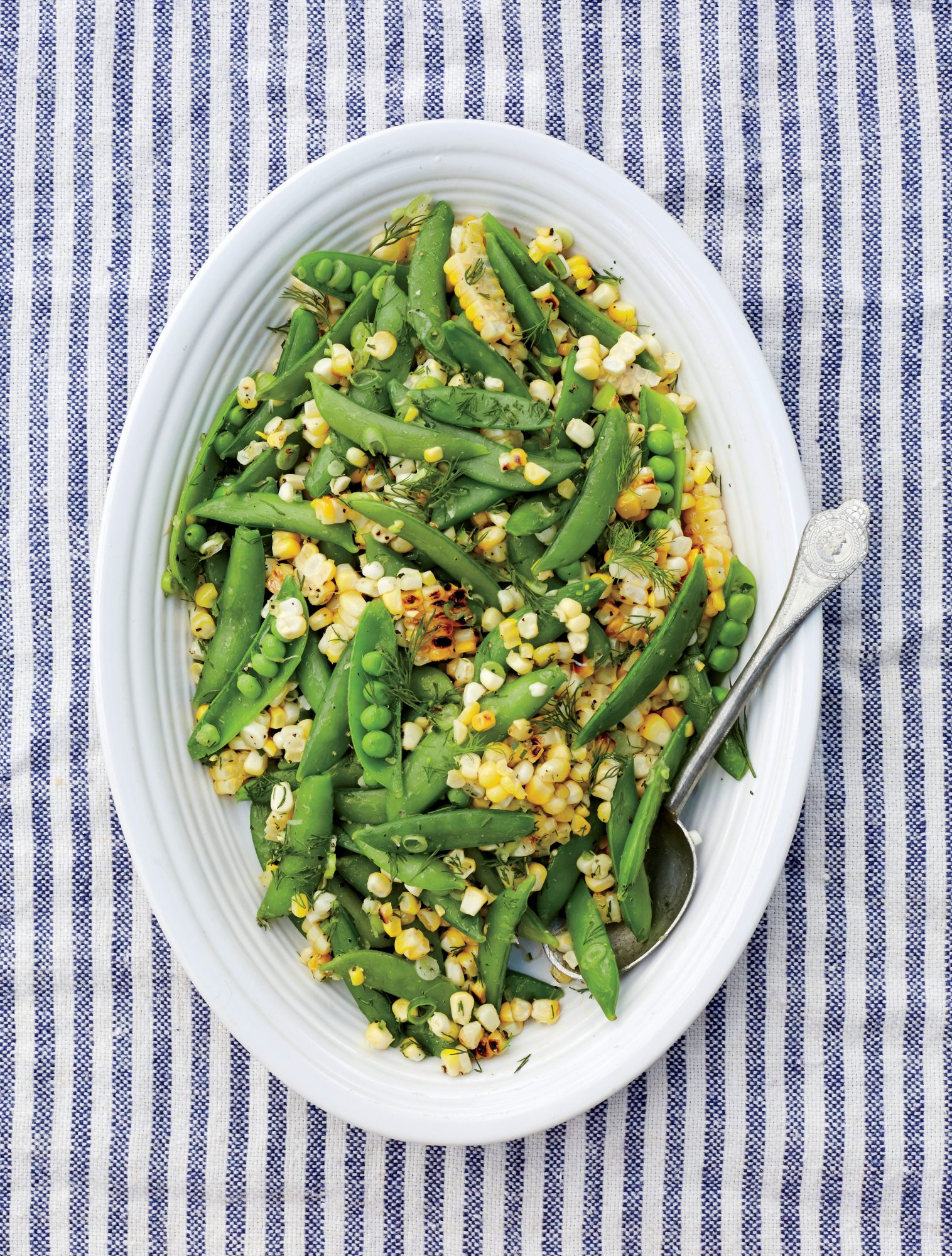 Grilled Corn and Snap Pea Salad