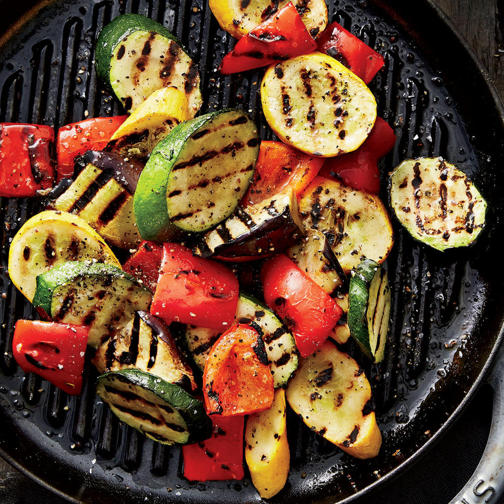 Grilled Vegetables With Creamy Turmeric Sauce
