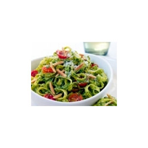 Almond Board Spinach-Almond Pesto with Linguini Recipes