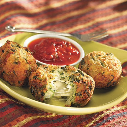 Spinach-Cheese Balls with Pasta Sauce Recipes