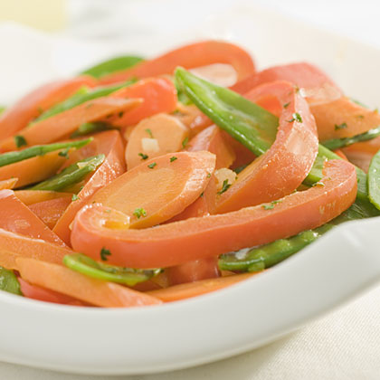 Sauteed Snow Peas, Carrots & Bell Pepper Recipes