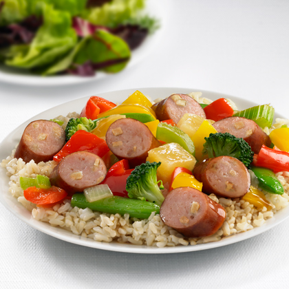 Johnsonville Apple Chicken Sausage Sweet and Sour Stir-Fry