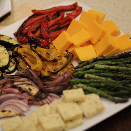 Grilled Veggie and Cheese Platter