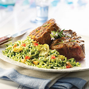 Mediterranean Spinach Artichoke Rice with Pine Nuts Recipes