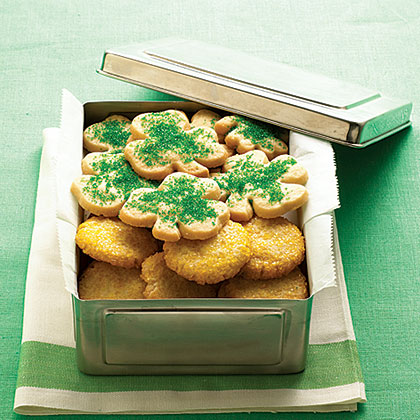 Shamrock and Gold Coin Cookies