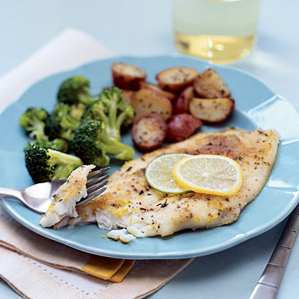 Flounder with Lemon-Lime Butter