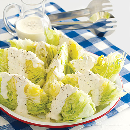 Lettuce Wedges with Creamy Dressing