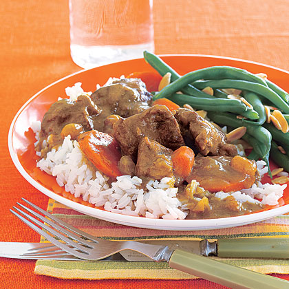 Curried Lamb Stew with Carrots