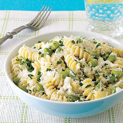 Pasta with Ricotta and Edamame