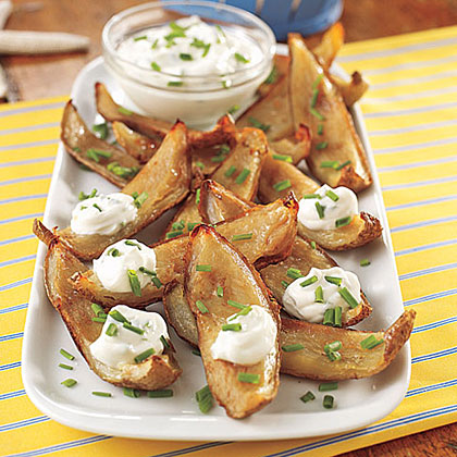 Potato Skins with Sour Cream and Chives