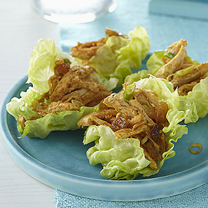 Curried Chicken Salad in Lettuce Cups