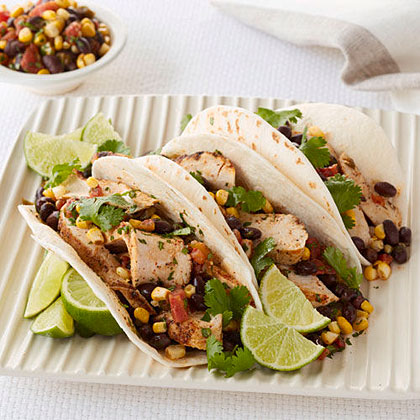 Chicken Tacos with Corn Salsa