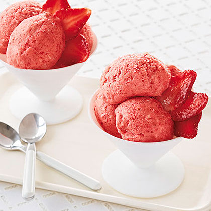Banana-Strawberry-Lime Sorbet