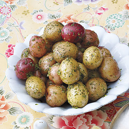 New Potatoes with Parsley Butter
