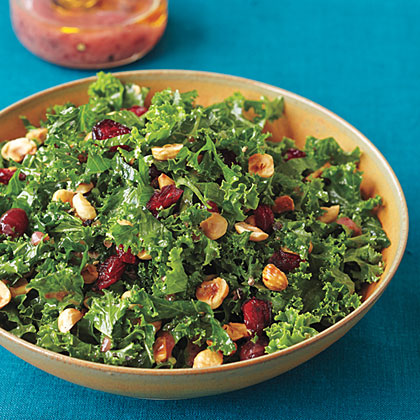 Kale Salad with Cranberry Vinaigrette