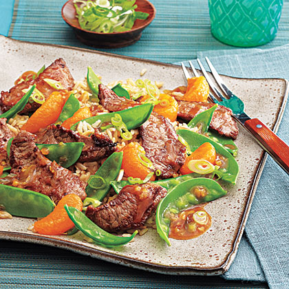 Stir-Fried Beef with Clementines