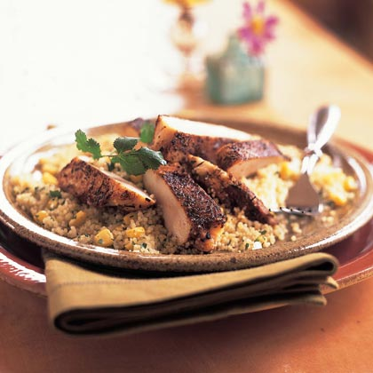 Spiced Chicken with Couscous Pilaf