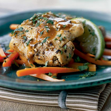 Chicken Thighs with Garlic and Lime