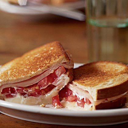 Grilled Tomato, Smoked Turkey, and Muenster Sandwich