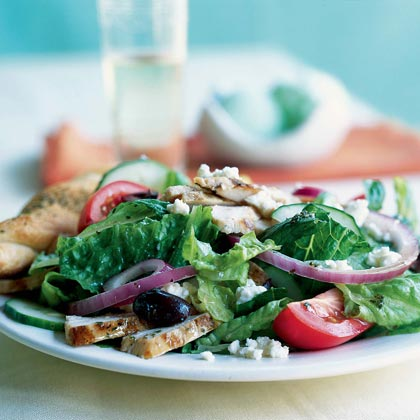 Greek Salad with Grilled Chicken