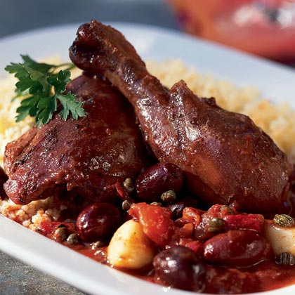 Red Wine-Braised Chicken with Couscous