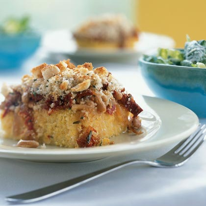 Grits Casserole with White Beans and Rosemary