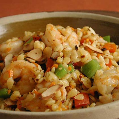 Shrimp and Orzo Pilaf