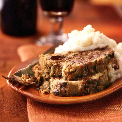 Sun-Dried Tomato Meat Loaf with Red Currant-Wine Sauce