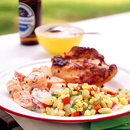 Grilled Chicken with White Barbecue Sauce