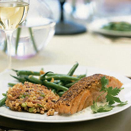 Spice-Crusted Salmon with Citrus Sauce