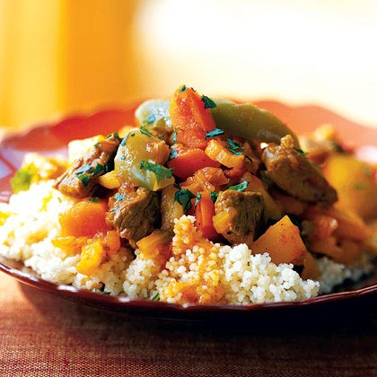 Lamb Tagine with Cinnamon, Saffron, and Dried Fruit