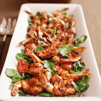 Broiled Shrimp with Spicy Chile Sauce Barra Vieja