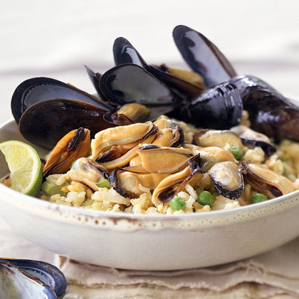 Curried Mussel Pilaf