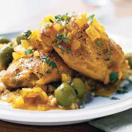 Chicken with Green Olives