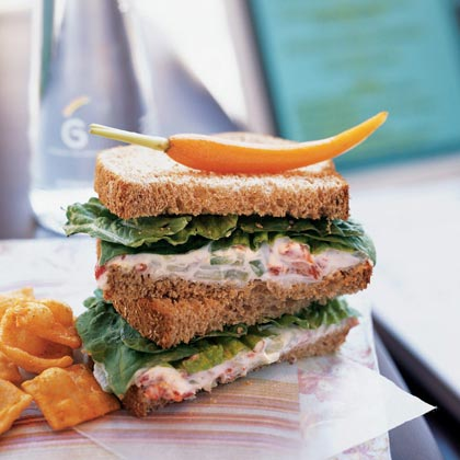 Roasted Red Pepper Spread Sandwiches