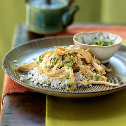 Chicken with Ginger and Green Onion Salt Dip