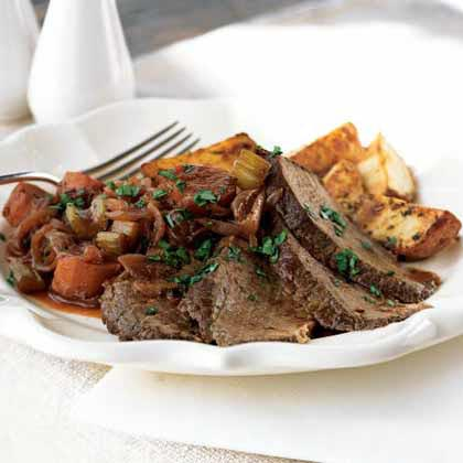 Zinfandel-Braised Beef Brisket with Onions and Potatoes