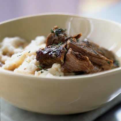 Slow-Roasted Beef with Creamy Mashed Potatoes