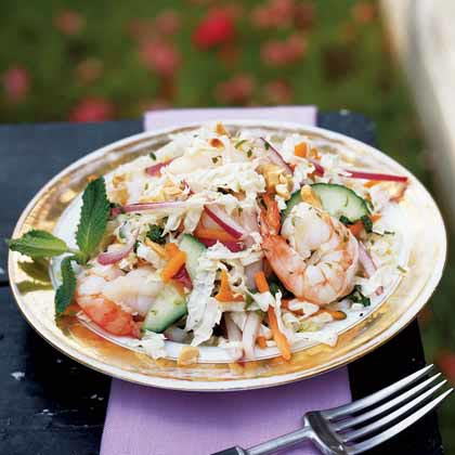 Southeast Asian Cabbage and Shrimp Salad